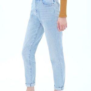 Forever 21 high rise boyfriend jeans
